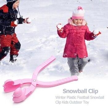 1pcs Cartoon Duck Snowball Maker Clip Kids Winter Outdoor Sports Snow Sand Mold Fight Outdoor Sport Tool Toy Sports Kids Toy