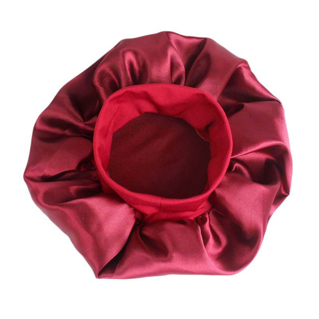 1pc Adjust Solid Satin Bonnet Hair Styling Cap Long Hair Care Women Night Sleep Hat Silk Head Wrap Shower Cap Hair Styling Tools