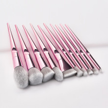 YBLNTEK 10PCS Makeup Brushes Set Metal Make Up Brushes for Foundation Eyeshadow Blusher Powder Concealer Eyebrow Cosmetic Tools 10pcs make up palette set eyeshadow lip gloss foundation powder blusher puff tool