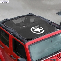 Top Sunshade Mesh Car Cover Roof UV Proof Protection Net for Jeep Wrangler JK 2 Door and 4 Door Car Accessories Styling