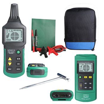 Portable Professional Wire Cable Tracker Metal Pipe Locator Detector Tester Line Tracker Voltage 12~400V MS6818 digital mastech ms6818 advanced wire tester tracker multi function cable detector 12 400v pipe locator meter with blacklight