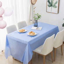 137*183cm Disposable Plastic Tablecloth Catering Event Party Wedding Rectangular Solid Tablecloth Tablecloth Kitchen 10 Colors