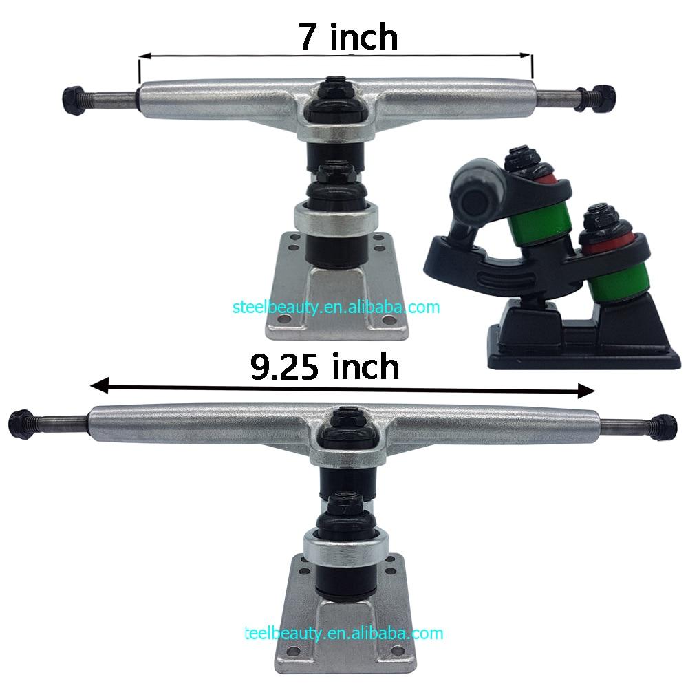 1 Pair Double Floor Longboard Trucks 7inch 9.25inch Skateboard Bracket Trucks 1year Quality Warranty Gravity Casting Technology
