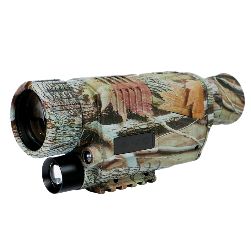 5 X 40 Infrared Night- Vision Monocular Infrared Digital Scope Hunting Telescope Long Range with Built-In Camera (Us Plug)