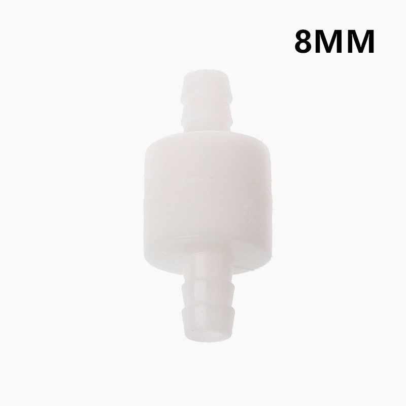 1PC plastikowe 6/8/10/12MM One Way Inline zawór zwrotny gazu powietrza cieczy wody zawór do wody benzyna oleju napędowego i więcej