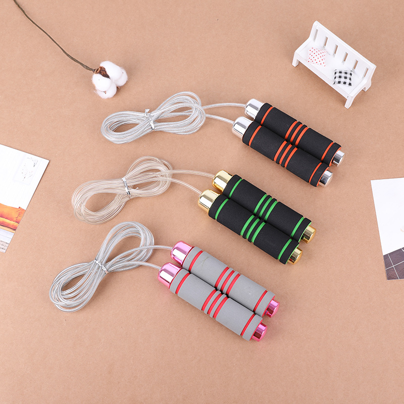 Adjustable Environmentally Friendly Steel Wire Jump Rope   Sweat Absorbing Bearing PVC Skipping Rope Adult Students Jump Rope