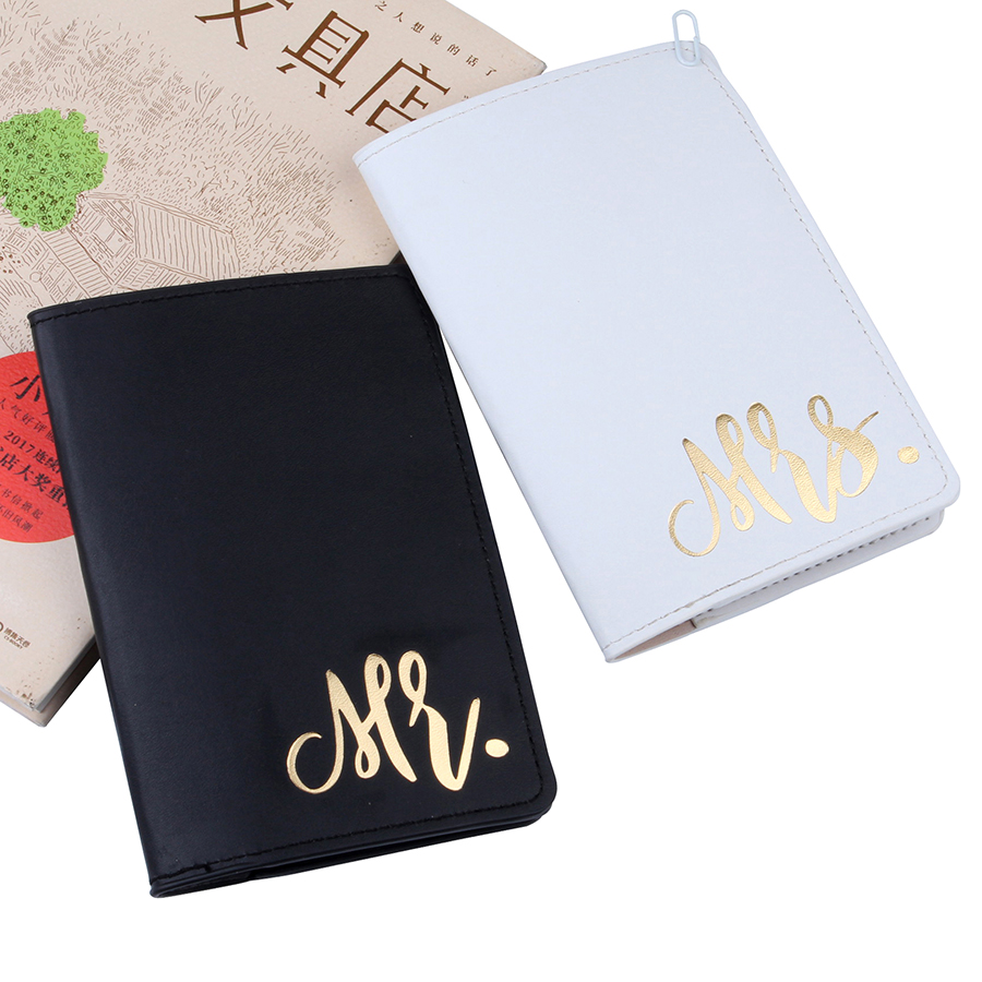 Mr&Mrs Couple Passport Cover Card Case Women Men Travel Credit Card Holder Travel ID&Document Passport Holder CH12