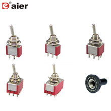 Toggle Switch Latching Type 6A 125VAC 3A 250VAC 6MM 2 Position/ 3 Position ON-ON ON-OFF ON-OFF-ON And Waterproof Cap Solder sketchbook on and on 3