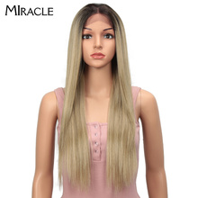 Miracle Synthetic Lace Front Wig Straight Lace Front Wig 4X4 synthetic wig 28