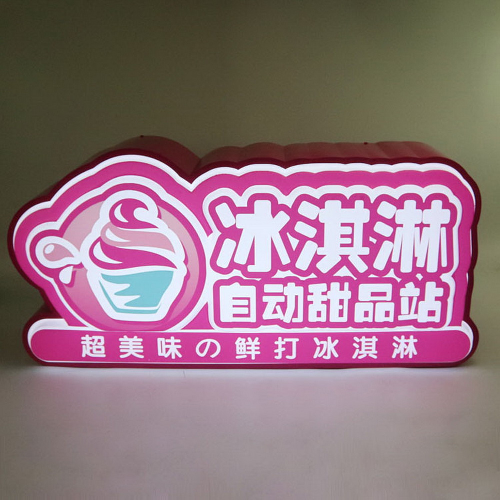 Customized 3D Acrylic Blister Letter Led Sign Concessional Sign For Store Decoration.