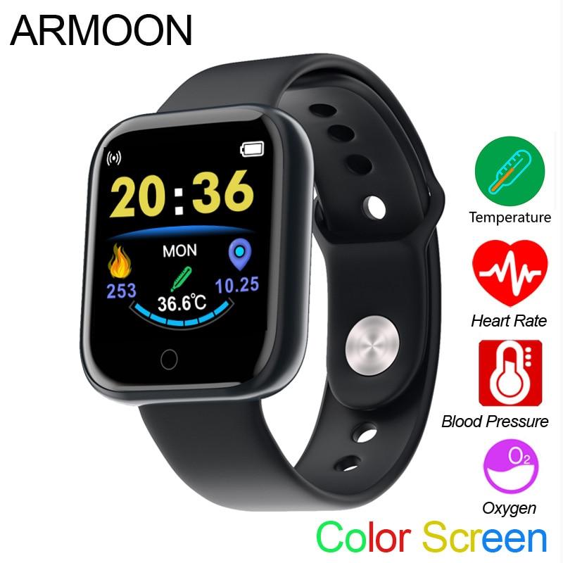 Smart Watch D20T 1.3 Inch Men Women Band Temperature Measurement Thermometer Fitness Tracker Heart Rate Clock Sport Smartwatch