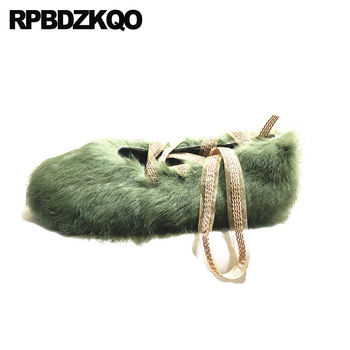 women green casual black chinese white large size winter flats round toe 2019 ladies shallow fur designer shoes china lace up
