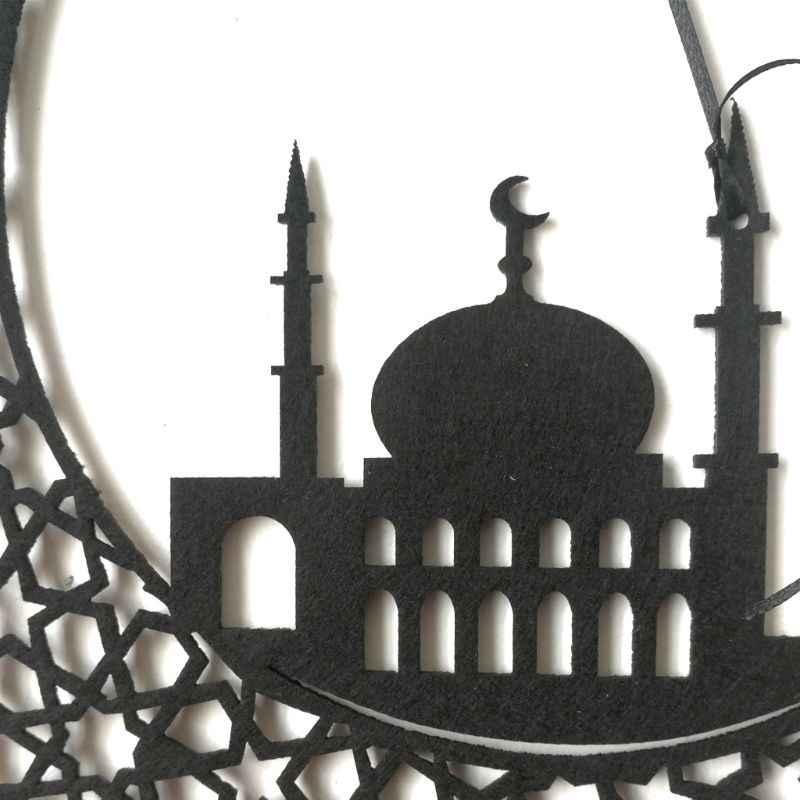 FAI DA TE Eid Del Pendente Ramadan Non-tessuto Porta di Casa Della Decorazione Della Parete Appeso Pendenti con gemme e perle Del Mestiere E65B