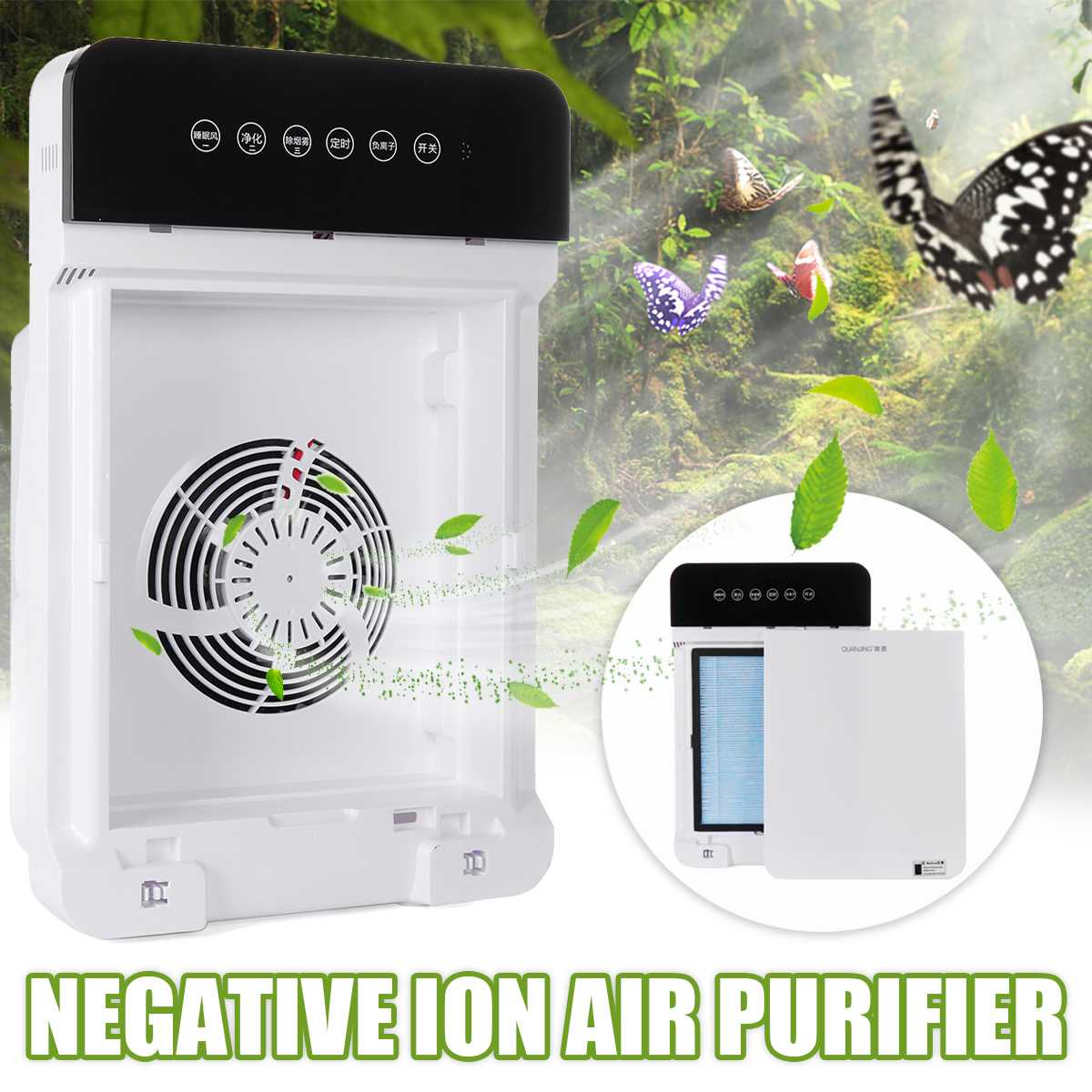Air Cleaner Formaldehyde Purifiers Remote Control Timer HEPA PM2.5 Pollen Odors Smoke Dust Filter Reduce HCHO Home Cleaner|Air Purifiers| |  - title=