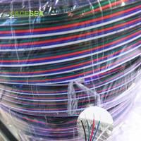 500 m/lote 2Pin 3pin 4pin 5pin extensión de la tira LED Cable de alambre 22AWG Cable de conector para 3528 de 5050 tira de LED RGBWW Luz