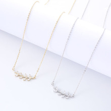 New Clavicle Chain Necklace Exquisite Flower Pendant Necklace Simple Personality Design Charm Pendant Fashion Jewelry fashion jewelry hollow pendant necklace female personality beads feather clavicle chain necklace