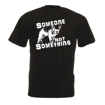 Camiseta Unisex de moda para hombres y mujeres de estilo vegetariano de alguien que no es algo, carne de liberación Animal es asesinato, envío gratis