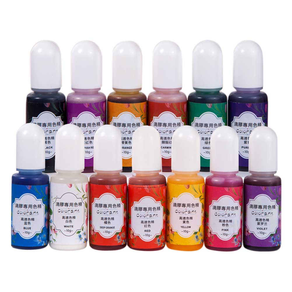 UV Epoxy Resin Pigment Highly Concentrated Home Dye Jewelry Making Odorless 13 Colors Portable DIY Crafts Colorant Liquid 6