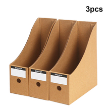 Office Desktop File  Bookshelf Magazine Stand Table Document Filing Box Organizer Holder