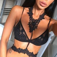 Womens Sexy Lingerie Set Hot Erotic Push Up Lace Open Bras Bralette Floral Women