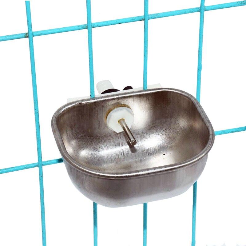 Stainless Steel Rabbit Water Bowl Farm Rabbit Automatic Drinker Rabbit Cage Fix Cup Raising Fox Mink Drinking Bowl 1 Pcs