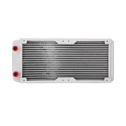 240 мм алюминиевый радиатор, белый радиатор компьютера водяное охлаждение жидкий теплообменник охлаждающий комплект