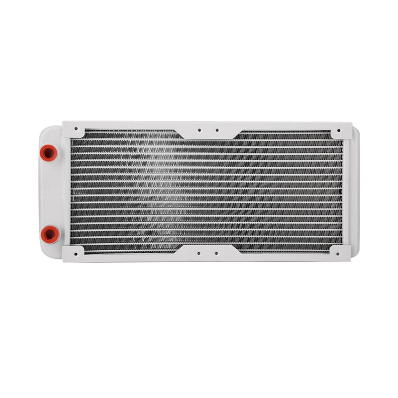 240mm Aluminum Radiator,White Heat Sink Computer Water Cooling Liquid Heat Exchanger Cooling Kit