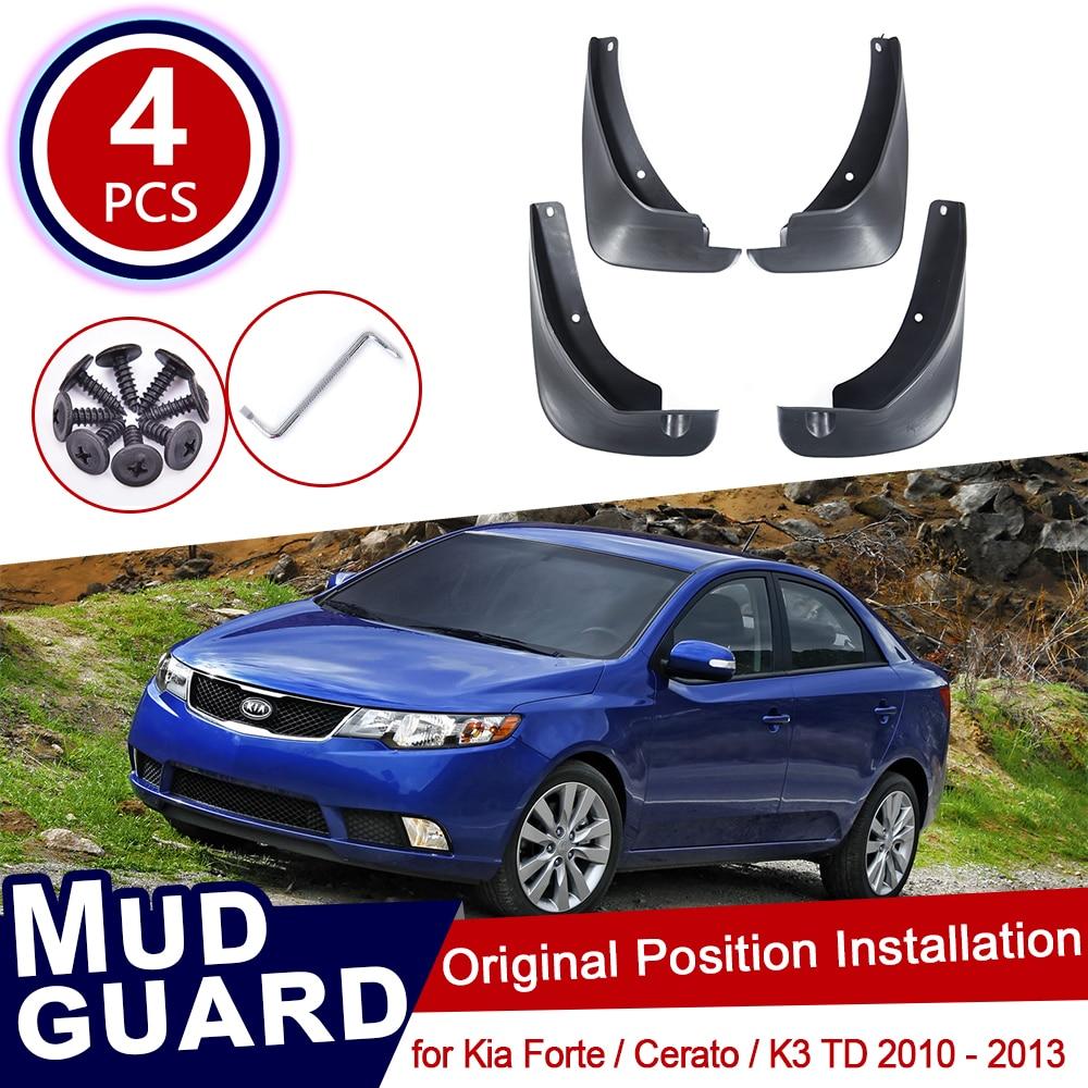 Car Mudguards for Kia Soul Basic 2010 2011 2012 2013 Car Mudguards Fender Splash Guards Mud Flaps Accessories Front and Rear Set of 4Pcs