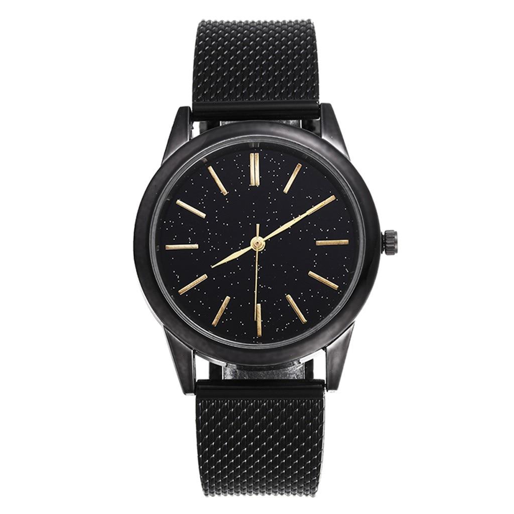 2020 New Men's Quartz Watch Luxury Starry Sky Scale Dial Wrist Watch Top Rose Gold Men's Analog Clock Watch Relogio Feminino 1