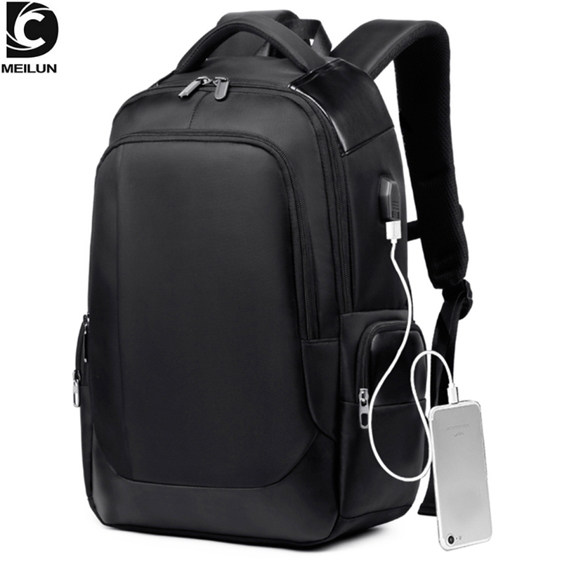 DC.meilun Men Travel Backpack Large Capacity Teenager Male Bag USB Charging Functional Rucksack Business Laptop Backpacks A1283