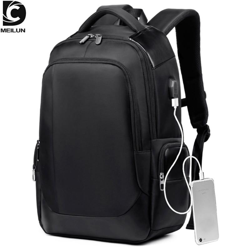 DC.meilun Men Travel Backpack Large Capacity Teenager Male Bag USB Charging Functional Rucksack Business Laptop Backpacks A1283