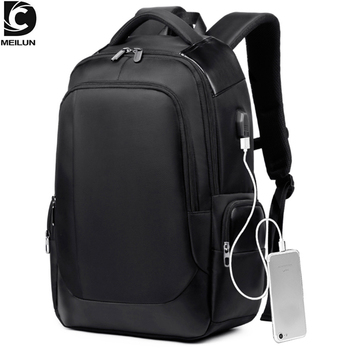 цена на DC.meilun Men Travel Backpack Large Capacity Teenager Male Bag USB Charging Functional Rucksack Business Laptop Backpacks a1283