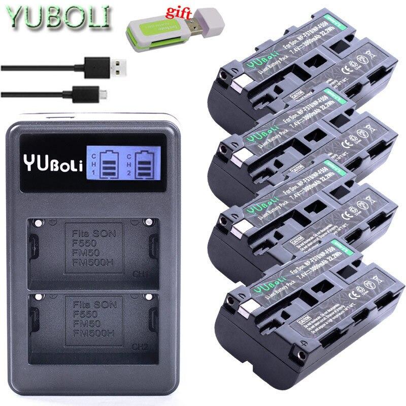 USB charger 4x bateria NP-F570 NP-F550 NP-F330 NP F550 NP F330 F750 Battery for sony CCD-SC55 CCD-TRV81 DCR-TRV210 MVC-FD81 Hi-8