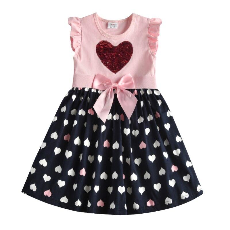 VIKITA 4-8Y Dress for Girls Baby Girl Children Tutu Dresses Princess Party Dresses Casual Vestidos Kids Girls Clothes SH5868 2