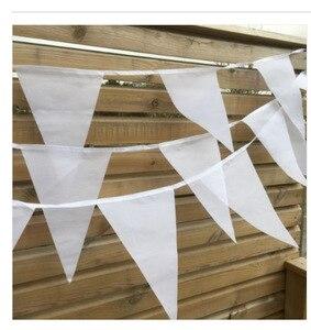 Image 4 - 80M 200 דגלי משי גבתון חגיגי & מפלגה קישוט גן אספקת חתונה, רומנטי לבן חג המולד המפלגה דגלים וכרזות