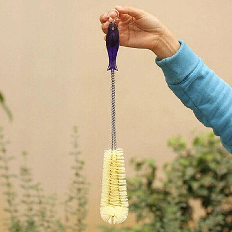 40 см Пластик ложки с длинной ручкой, эластичная бутылка термос щеточка для чистки Кухня термос чайник, Очищающий Инструмент 40*6*5,5 см