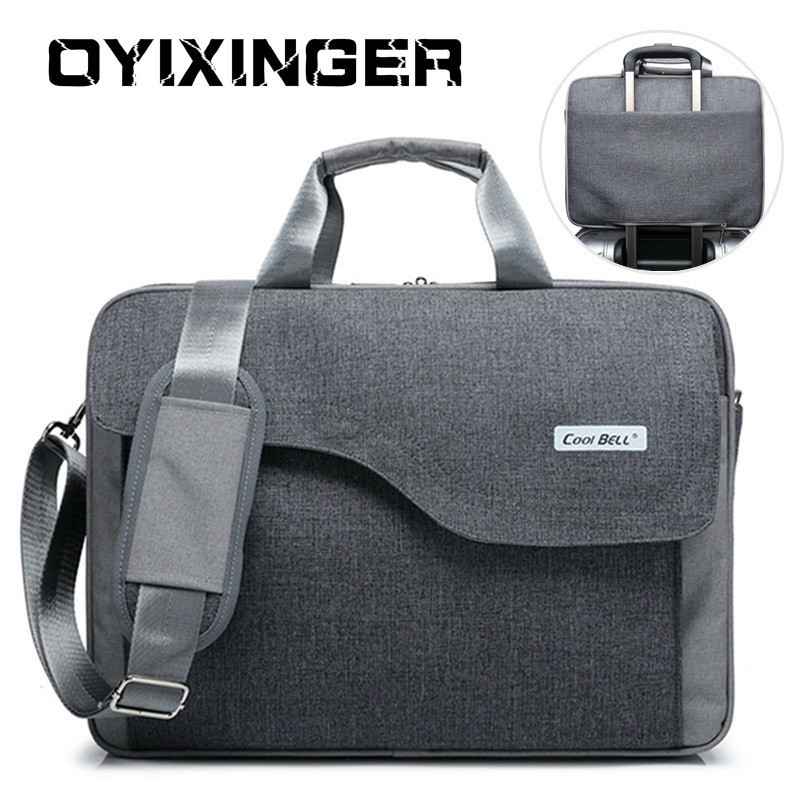 2020 Men Briefcases Business Laptop Bag Zipper Crossbody Bags Notebook Handbags Male Messenger Shoulder Bag For Macbook Hp Dell