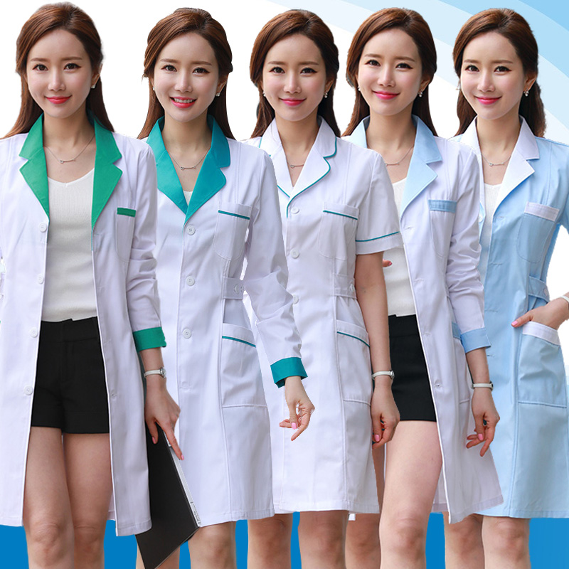 Medical Surgical Clothes White Coats Nurse Uniforms Women Pharmacy Hospital Doctor Clothing Lab Coats Beauty And Health Workwear