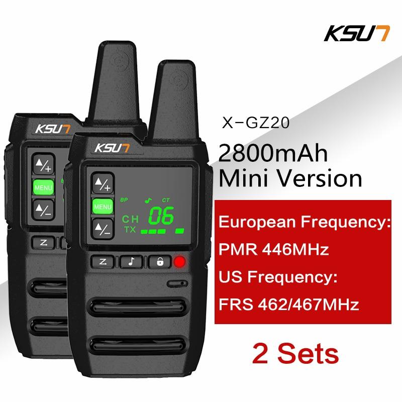 KSUN 2pcs X GZ20 FRS UHF462 467MHz PMR 446MHz 사냥 햄 라디오 라이센스 무료 라디오 워키 토키 1 양방향 라디오 USB 충전기 12|무전기| - AliExpress