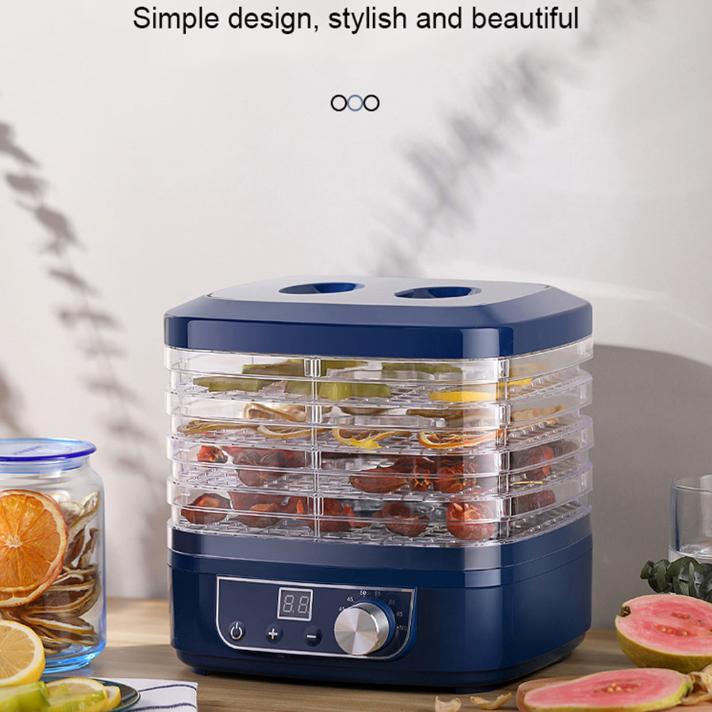 220V Dried Fruit Vegetables Herb Meat Machine Household MINI Food Dehydrators Pet Meat Dehydrated 5 trays Snacks Air Dryer