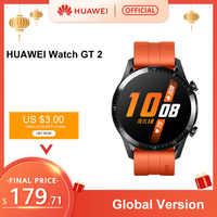 En existencia reloj HUAWEI Original GT 2 GT2 inteligente 46MM GPS vida impermeable Bluetooth llamadas ritmo cardíaco para Android iOS CN Versio