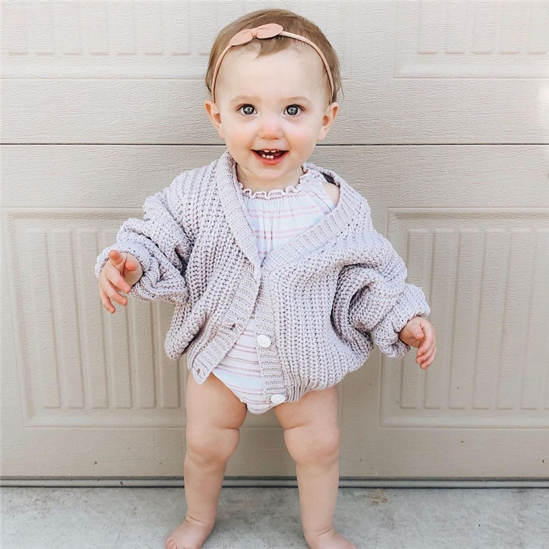 Kids Sweater SS Brand New Winter Baby Girl Sweater Coat Boys Toddler Girls Candy Color Cotton Knitted Soft Cotton Tops Cardigan 2