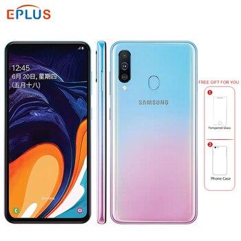 Перейти на Алиэкспресс и купить Новый оригинальный мобильный телефон samsung Galaxy A60, 6 ГБ, 128 ГБ, 6,3 дюймов, Восьмиядерный процессор Snapdragon 675, трехъядерный, 32 МП, 8 Мп, 5 МП, 4G, смартфо...