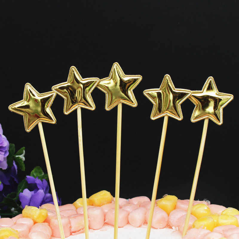 5Pcs Mahkota Bintang Hiasan Kue Selamat Ulang Tahun Toppers untuk Baby Shower Kue Topper Wedding Pribadi DIY Pesta Dekorasi Kue