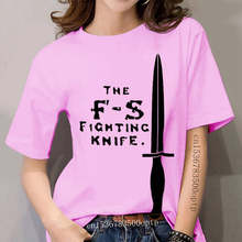 Hot Sell 2019 Fashion F-S Fighting Knife Messer Major Fairbairn Commando British Army O-Neck T Shirt