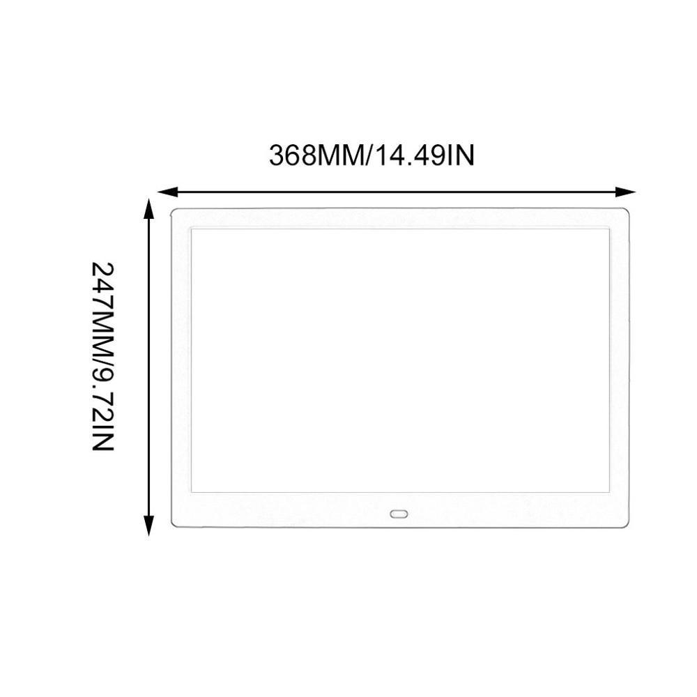 Pantalla de 15 pulgadas LED Backlight HD marco álbum de fotos Digital electrónico película de música de foto función completa buen regalo - 6