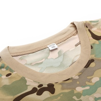 Camouflage Tactical Shirt Short Sleeve Men's Quick Dry Combat T-Shirt Military Army T Shirt Camo Outdoor Hiking Hunting Shirts 5