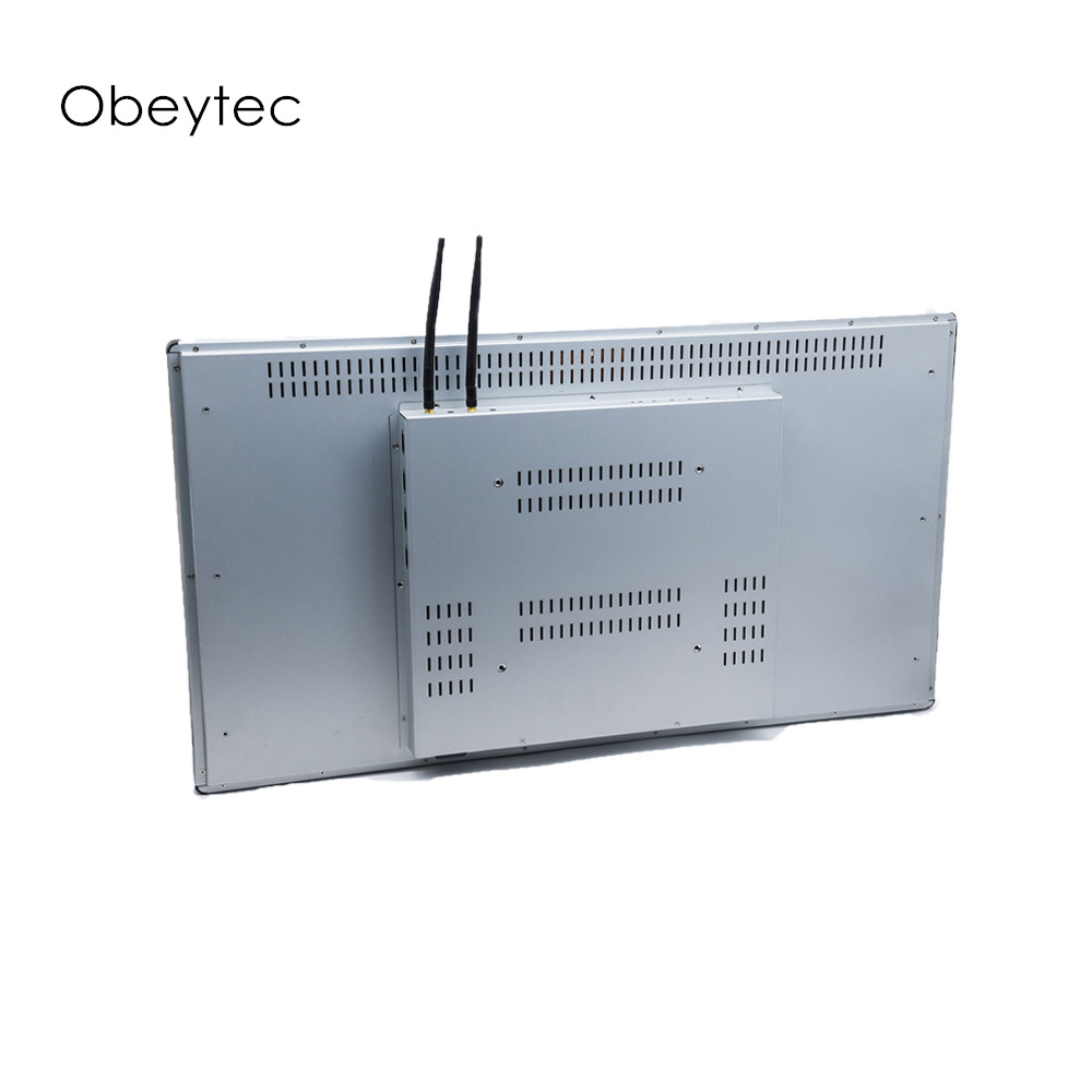 OBT236K-J1900N-1L 23.6 polegada open frame touch screen pc, computador fhd 1920*1080, 250cd/m2, toque pcap, j1900 4 + 64g