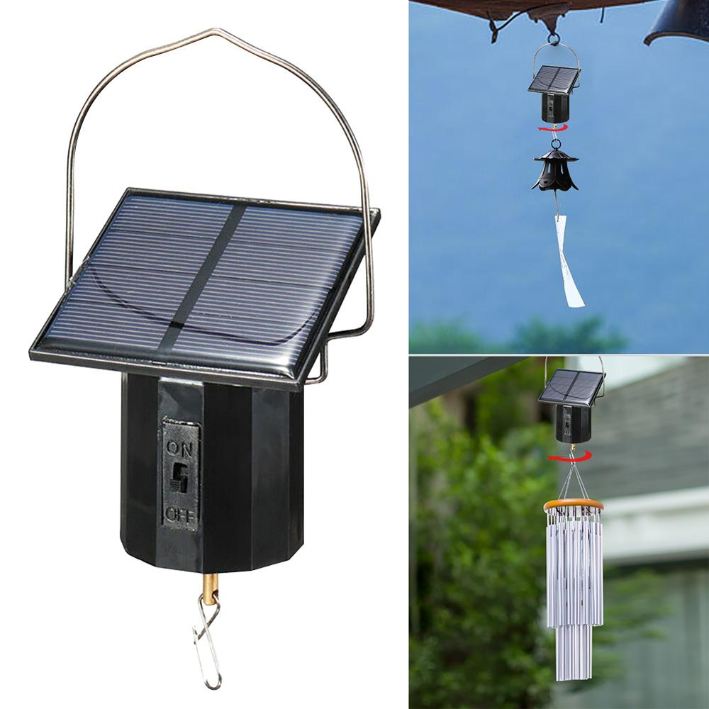 Solar Hanging Display Motor Rotating Small Motor Solar Energy Wind Spinner Motor Multi-Purposes Rotatable Hook For Wind Chimes