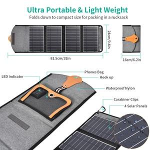Image 4 - CHOETECH 5V 2.4A panneau solaire 22W pour iPhone 11 X XS dispositifs de sortie USB Portable étanche panneaux solaires chargeur de téléphone pour xiaomi